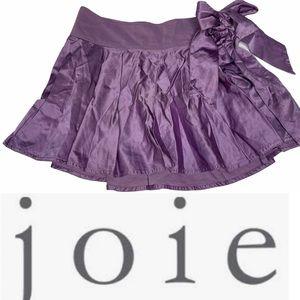 Vintage Joie Lavender Satin Pleated Skater Skirt 4